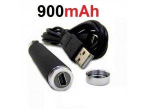 Baterie Micro USB passthrough 900mAh eGo černá