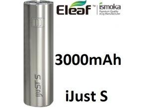 Baterie iSmoka-Eleaf iJust S 3000mAh stříbrná