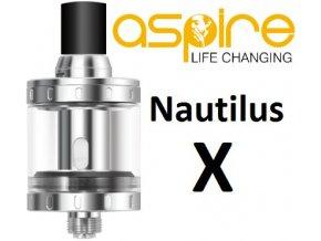 aSpire Nautilus X clearomizér 2ml stříbrný