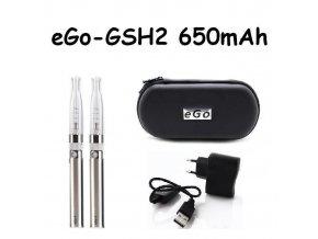 Elektronická cigareta eGo-GSH2 650mAh nerezová 2ks