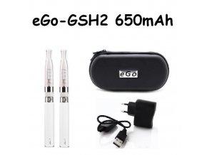 Elektronická cigareta eGo-GSH2 650mAh bílá 2ks