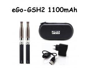 Elektronická cigareta eGo-GSH2 1100mAh černá 2ks