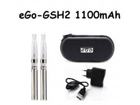 Elektronická cigareta eGo-GSH2 1100mAh nerezová 2ks