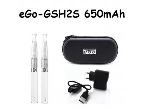 Elektronická cigareta eGo-GSH2S 650mAh bílá 2ks