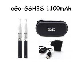 Elektronická cigareta eGo-GSH2S 1100mAh černá 2ks