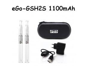 Elektronická cigareta eGo-GSH2S 1100mAh bílá 2ks