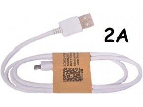 Univerzální USB-MICRO USB kabel 2A bílý (2000mA)