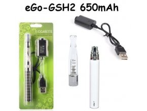Elektronická cigareta eGo-GSH2 650mAh bílá 1ks