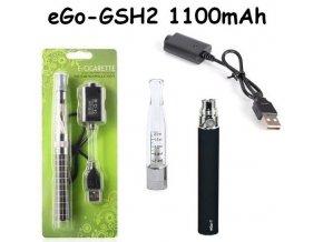 Elektronická cigareta eGo-GSH2 1100mAh černá 1ks