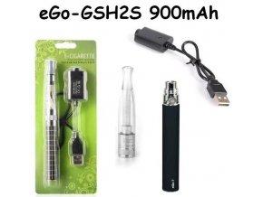 Elektronická cigareta eGo-GSH2S 900mAh černá 1ks