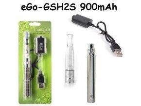 Elektronická cigareta eGo-GSH2S 900mAh nerezová 1ks