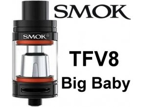 smok smoktech tfv8 big baby clearomizer cerny