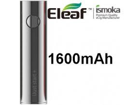 ismoka eleaf ijust start plus baterie 1600mah stribrna