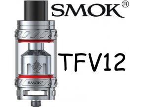 smok smoktech tfv12 beast clearomizer stribrny