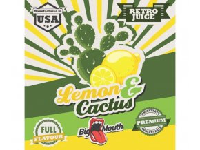 prichut aroma na michani do bazi big mouth retro juice 10ml lemon a cactus