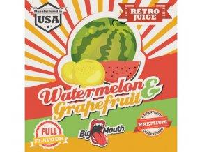 prichut aroma na michani do bazi big mouth retro juice 10ml watermelon a grapefruit