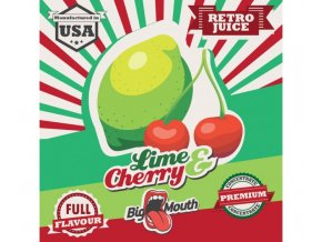 prichut aroma na michani do bazi big mouth retro juice 10ml lime a cherry