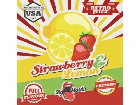 prichut aroma na michani do bazi big mouth retro juice 10ml strawberry a lemon