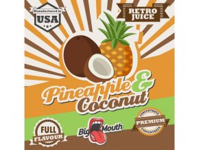 prichut aroma na michani do bazi big mouth retro juice 10ml pineapple a coconut