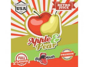 prichut aroma na michani do bazi big mouth retro juice 10ml apple a pear