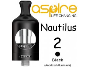 aspire nautilus 2 clearomizer 2ml cerny
