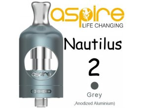 aspire nautilus 2 clearomizer 2ml sedy grey