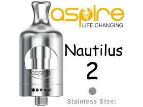 aspire nautilus 2 clearomizer 2ml stribrny silver