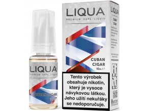 liqua e liquid elements cuban cigar tobacco 10ml kubansky doutnik