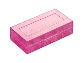 plastove pouzdro pro baterie 18650 18350 fialove