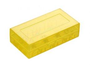 plastove pouzdro pro baterie 18650 18350 zlute