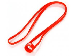 univerzalni gumova snurka na krk cervena cerveny