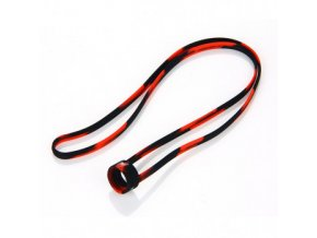 univerzalni gumova snurka na krk cerno cervena