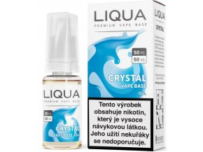 liqua crystal vape base 10ml 18mg 50pg 50vg