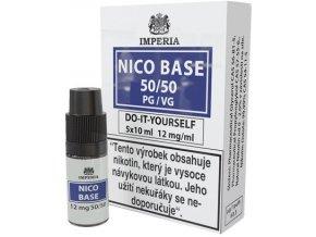 nikotinova baze imperia 5x10ml pg50 vg50 12mg