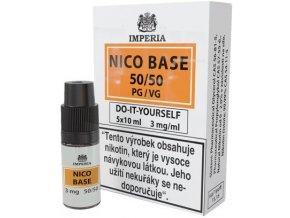 nikotinova baze imperia 5x10ml pg50 vg50 3mg
