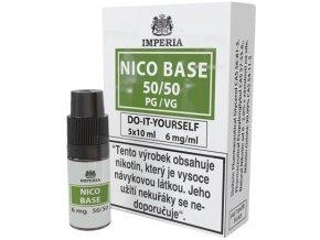 nikotinova baze imperia 5x10ml pg50 vg50 6mg
