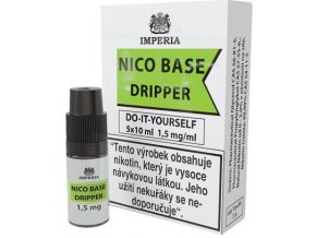 nikotinova baze imperia dripper 5x10ml pg30 vg70 15mg