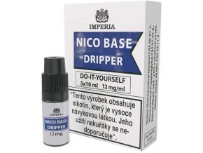 nikotinova baze imperia dripper 5x10ml pg30 vg70 12mg