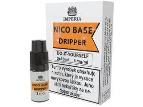 nikotinova baze imperia dripper 5x10ml pg30 vg70 3mg