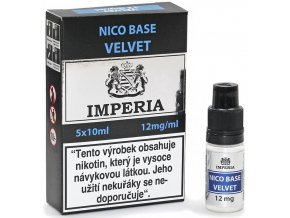 velvet nico baze imperia pg20 vg80 12mg 5ks 5x10ml