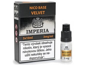velvet nico baze imperia pg20 vg80 3mg 5ks 5x10ml