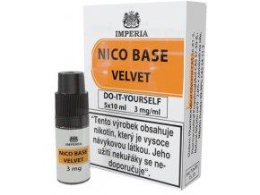 nikotinova baze imperia velvet 5x10ml pg20 vg80 3mg