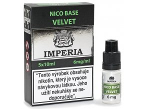 velvet nico baze imperia pg20 vg80 6mg 5ks 5x10ml