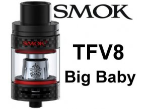 smok smoktech tfv8 big baby clearomizer carbon black karbon