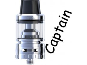 ijoy captain sub ohm clearomizer silver stribrna
