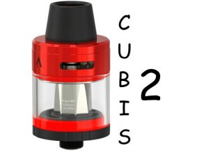 joyetech cubis 2 clearomizer 2ml red cerveny