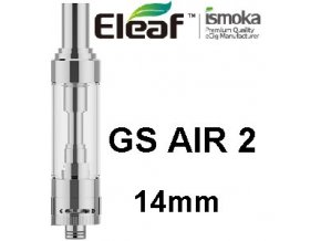ismoka eleaf gs air 2 14mm clearomizer stribrny silver