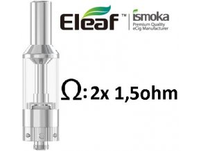 ismoka eleaf gs air clearomizer 25ml stribrny