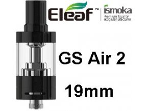 ismoka eleaf gs air 2 19mm clearomizer cerny