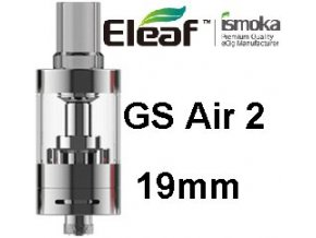 ismoka eleaf gs air 2 19mm clearomizer stribrny